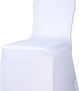 Housse de chaise Lycra blanche