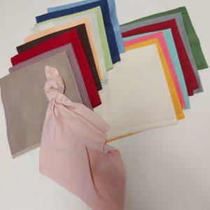 Serviettes tissus couleurs