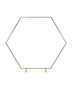 Arche hexagonale métal dorée