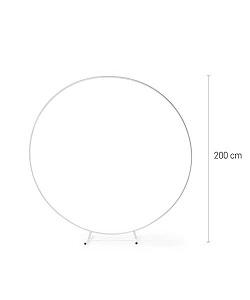 Arche métal ronde blanche