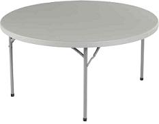 Table ronde de 10 personnes 182 cm